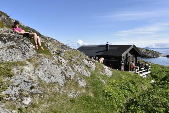 Forskerstasjonen Keila, i godvær tidligere i uka. (Foto: Geir Systad)