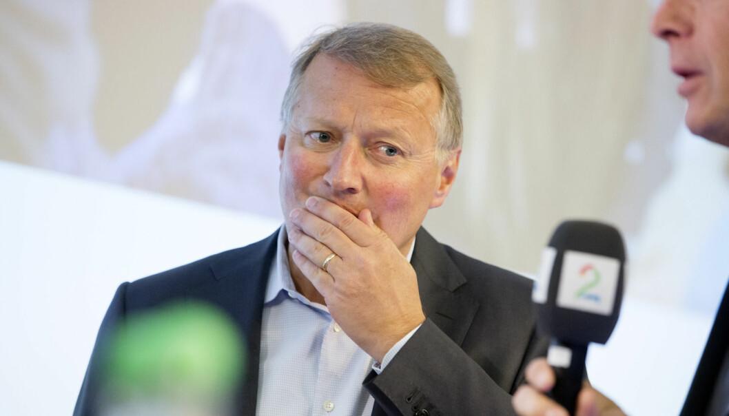 DNBs administrerende direktør Rune Bjerke tok til kraftig motmæle da Aftenposten avslørte at de hadde plassert kunders penger i skatteparadiser etter Panama Papers-lekkasjer. Nå må storbanken møte i retten mot Forbrukerrådet, som går til erstatningssøksmål på vegne av 50 000 aksjefondskunder.  (Foto: NTB Scanpix)