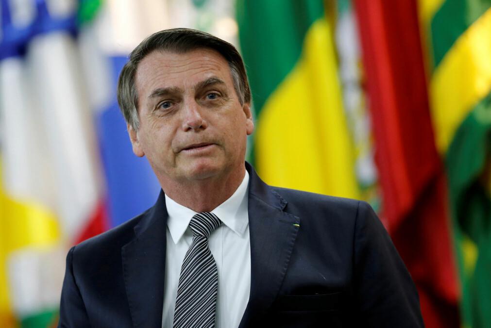 Brasils president Jair Bolsanaro anklager landets romfartsorganisasjon om å lyve om avskogingen av Amazonas. (Foto: Adriano Machado / Reuters / NTB Scanpix)