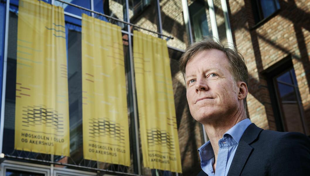 Curt Rice er rektor ved Høgskolen i Oslo og Akershus. (Foto: Benjamin Ward/HiOA)