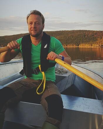 Stein Ivar Johnsen i en pause fra skjeggkre-utrenskningen. (Foto: privat)