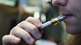 E-sigaretter er utvilsomt skadelige, ifølge WHO