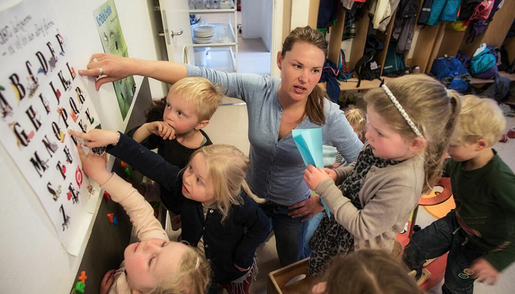 Pedagog Sandra Nielsen og hennes kollegaer i barnehagen Peters Hus i København ble pålagt av kommunen å delta i forskningsprosjekt de selv mente var basert på feil pedagogisk grunnsyn.  (Foto: Alf Ove Hansen)