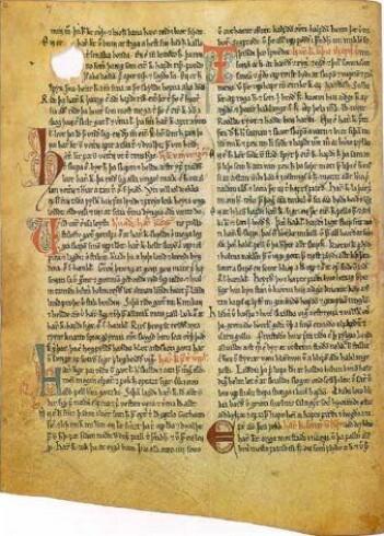 En side fra Jón Eggertsons 1600-tallskopi av Heimskringla-manuskriptet.