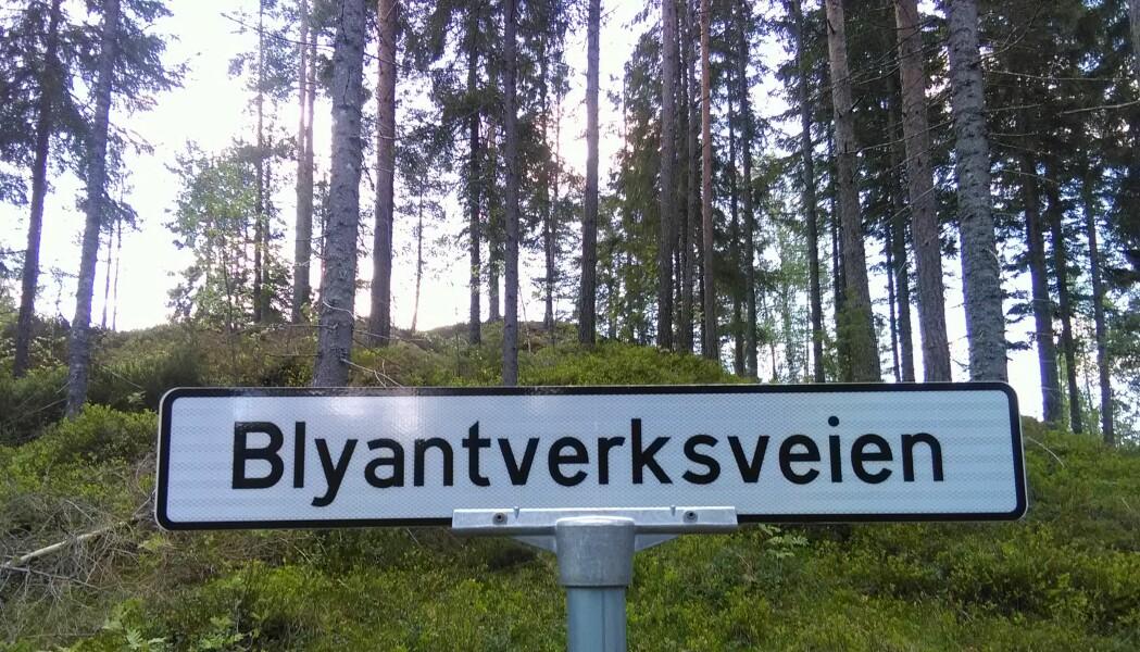 I Blyantverksveien finner vi Norges eldste grafittgruve. (Foto: Ane K. Engvik)