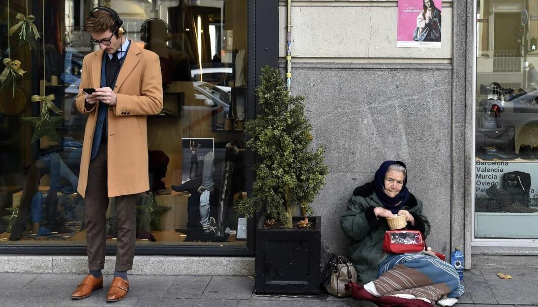 De fleste av oss har det bedre enn vi hadde for noen generasjoner siden, men ulikhetene i samfunnet blir likevel større. (Foto: Gerard Julien, Afp, NTB scanpix)