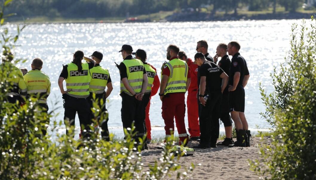 Bilde fra en av drukningene som media har skrevet om i sommer. (Foto: Terje Bendiksby / NTB scanpix)