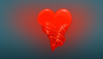 Når venstre hjertekammer tømmes for blod gjør det en vridningsbevegelse, ikke ulikt det som skjer når man vrir opp en vaskeklut.  (Illustrasjon: NTNU)