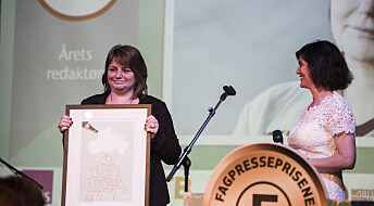 Nina Kristiansen i forskning.no vant årets redaktør-pris