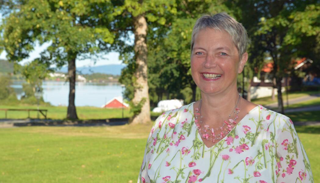 Hanne Solheim Hansen mønstret offisielt på som Nord universitets nye rektor den 1. august 2019. (Foto: Bjørnar Leknes)
