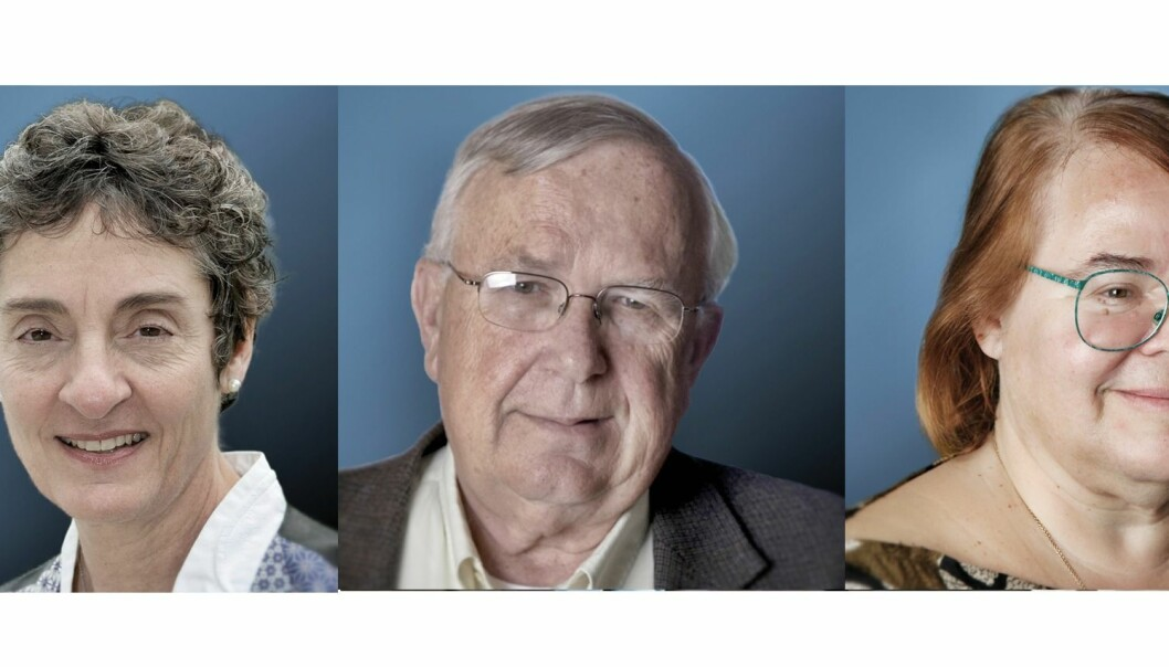 Prisvinnerne i nevrovitenskap: Carla J. Shatz, Michael M Merzenich og Eve Marder. (Foto: kollasje,© Steve Fisch/© University of California, San Francisco/eLife Science Publications, Ltd, CC BY 3.0))