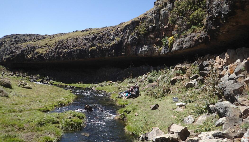 Dette fjellutspringet i Etiopia fungerte som ly og oppholdssted for folk for over 30 000 år siden. (Bilde: Götz Ossendorf)