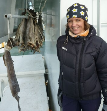 Cathrine Lund Myhre om bord på forskningsskipet «Helmer Hanssen». (Foto: NILU)