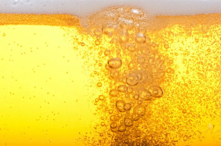 Det er ikke godt å si om det kinesiske ølet var like gyllent og klart som denne moderne pilsneren. (Foto: (Illustrasjonsbilde: Shutterstock/NTB Scanpix))