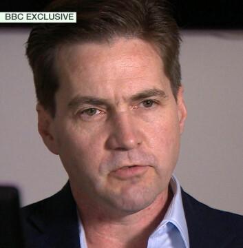 Austraileren Craig Wright hevder å være skaperen av Bitcoin, tidligere bare kjent under psevdomymet Satoshi Nakamoto. Bildet er tatt under et intervju med BBC 2. mai 2016. (Foto: BBC News via AP)