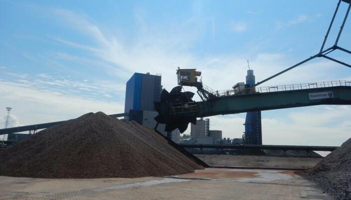 Nå bygges det trepelletsfabrikk på Kongsvinger for å produsere mesteparten av pelletsene til kraftverket i Rotterdam. (Illustrasjonsfoto: Arbaflame)