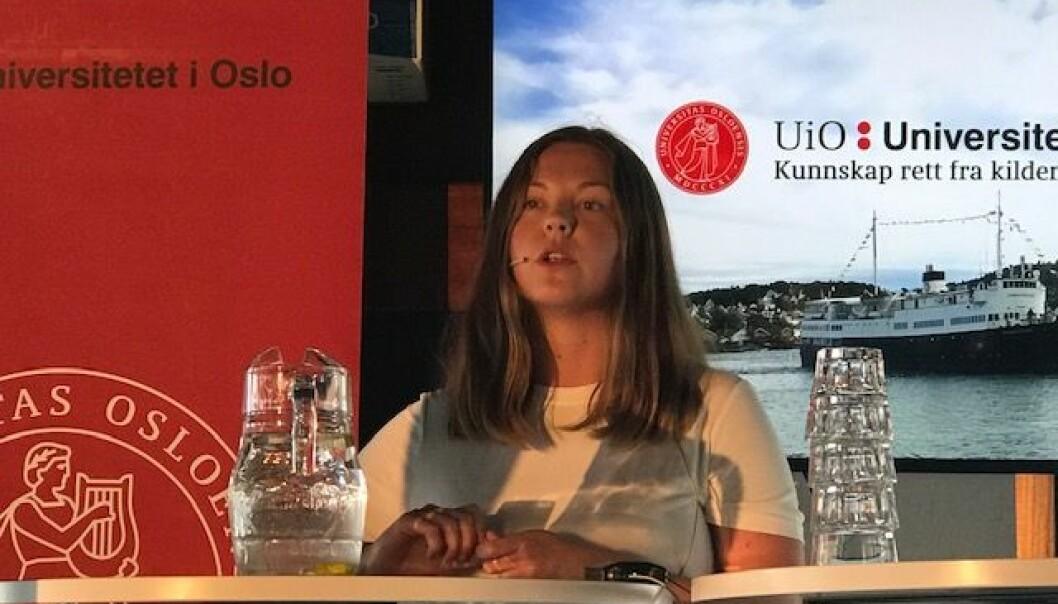 Synnøve Kronen Snyen er gruppeleder for SV i Oppegård. Hun er glad for at forskerne i en ny studie har funnet ut at det man får mest uttelling for som politiker, er å snakke om politikk. (Foto: Siw Ellen Jakobsen)