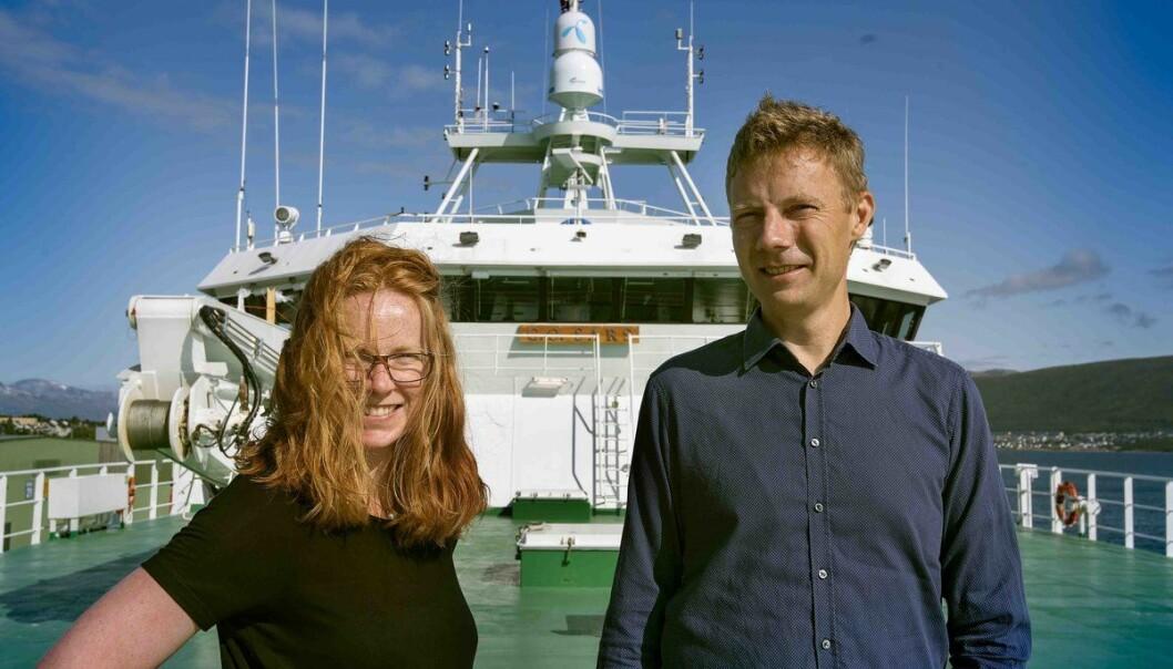 Programleiar Maria Fossheim og forskingssjef Erik Olsen ved Havforskningsinstituttet skal begge på økosystemtokt i Barentshavet. (Foto: Gunnar Sætra, Havforskningsinstituttet)