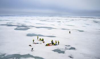 Lærlinger på isflak