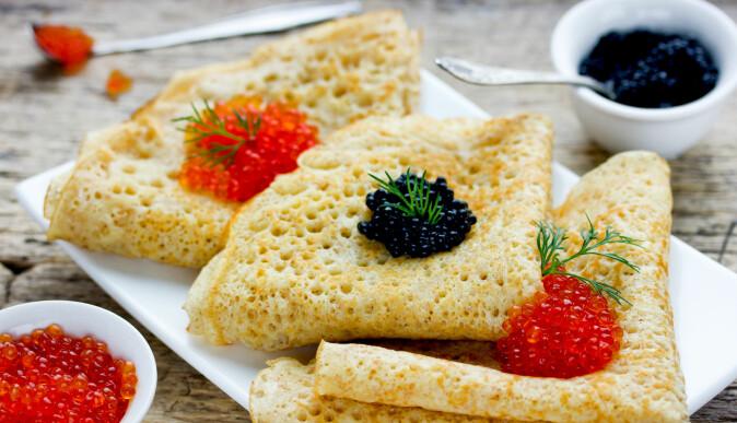 Pannekaker med kaviar - min favoritt! (Foto: Shutterstock)