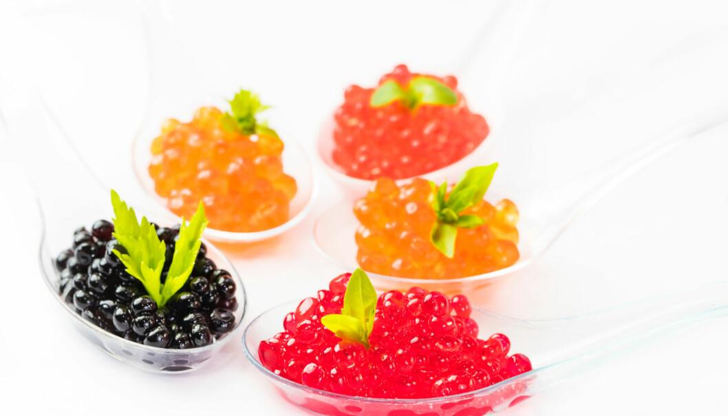 Kaviar kan du få i mange farger og størrelser - arten er avgjørende. (Foto: Shutterstock)