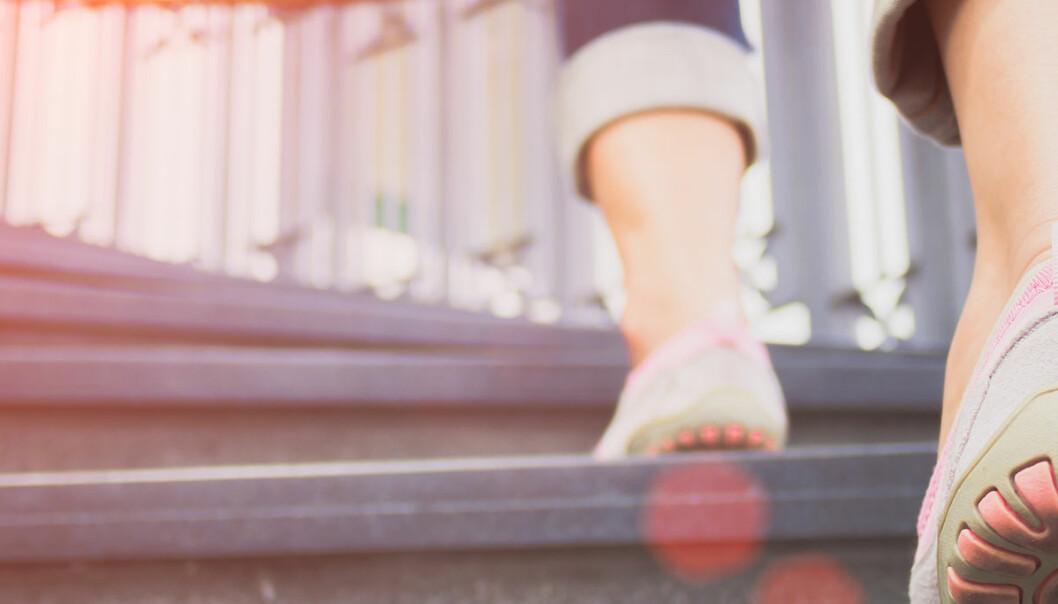Selv få og små skritt kan forlenge livet