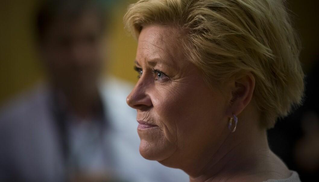 Mye handler om oljekrise og innvandring når finansminister Siv Jensen nå legger fram revidert statsbudsjett for 2016.  (Foto: NTB Scanpix)