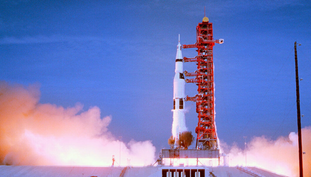 Raketten brukte hele 13 000 liter drivstoff i sekundet. (Foto: Copyright © 2019 Moon Collectors LLC)