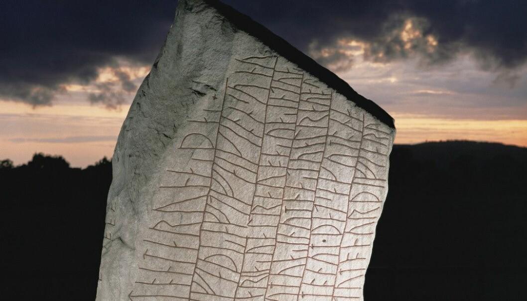 Toppen av Röksteinen. Det er denne siden hvor inskripsjonen begynner. (Foto: Science Photo Library)