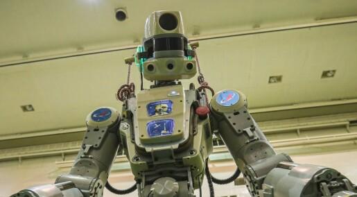Russisk robot bistår astronauter på den internasjonale romstasjonen
