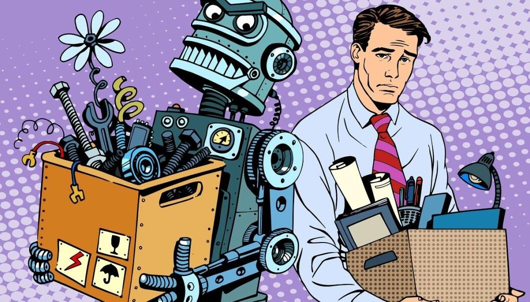 Revolusjonen har allerede startet. Kunstig intelligens vil erstatte oss i produksjon, kirurgi, våpenindustri, militæret, forskning, undervisning og i mange flere yrker, skriver kronikkforfatteren. (Illustrasjon: Colourbox)