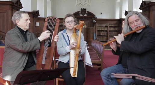 Her spilles middelaldermusikk som ikke er hørt på 1000 år