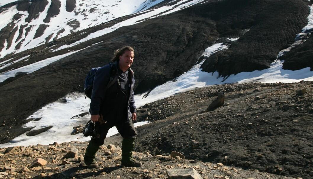 I første episode av Svalkast reiser vi tilbake i klodens historie, guidet av paleontolog Jørn Hurum. (Foto: Ole Magnus Rapp, Aftenposten, NTB scanpix)