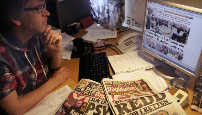 Researching media coverage of Breivik trial