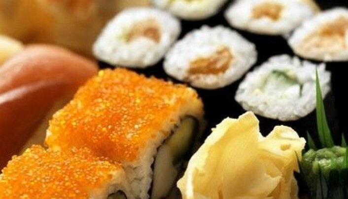 Inhibiting bacteria growth in sushi