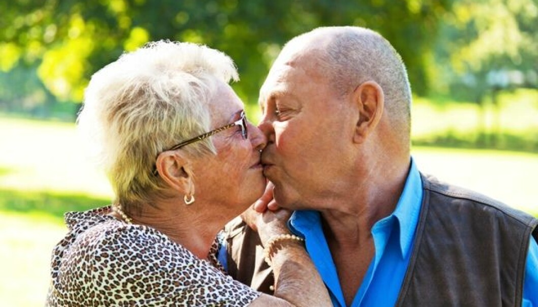Intimacy and touching become a more important part of older men's sexuality (Photo: Colourbox)