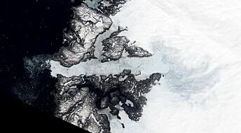 Hurtige isstrømmer bremset ned av klebrige flekker