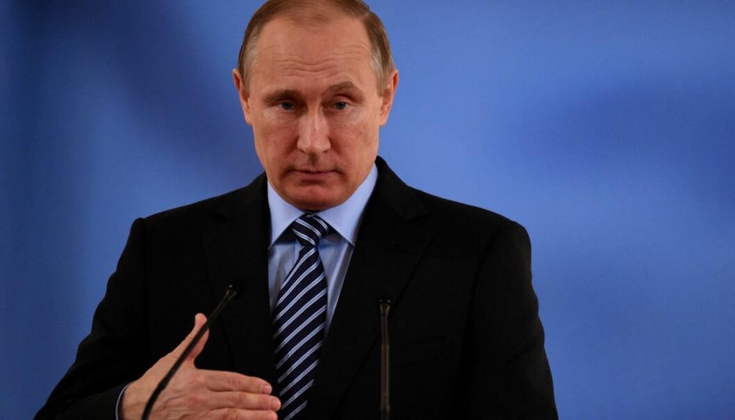 Vladimir Putin forsøker å appellere til russernes nasjonalfølelse, på tvers av etnisitet.  (Foto: Vasily Maximov, Pool, NTB scanpix)