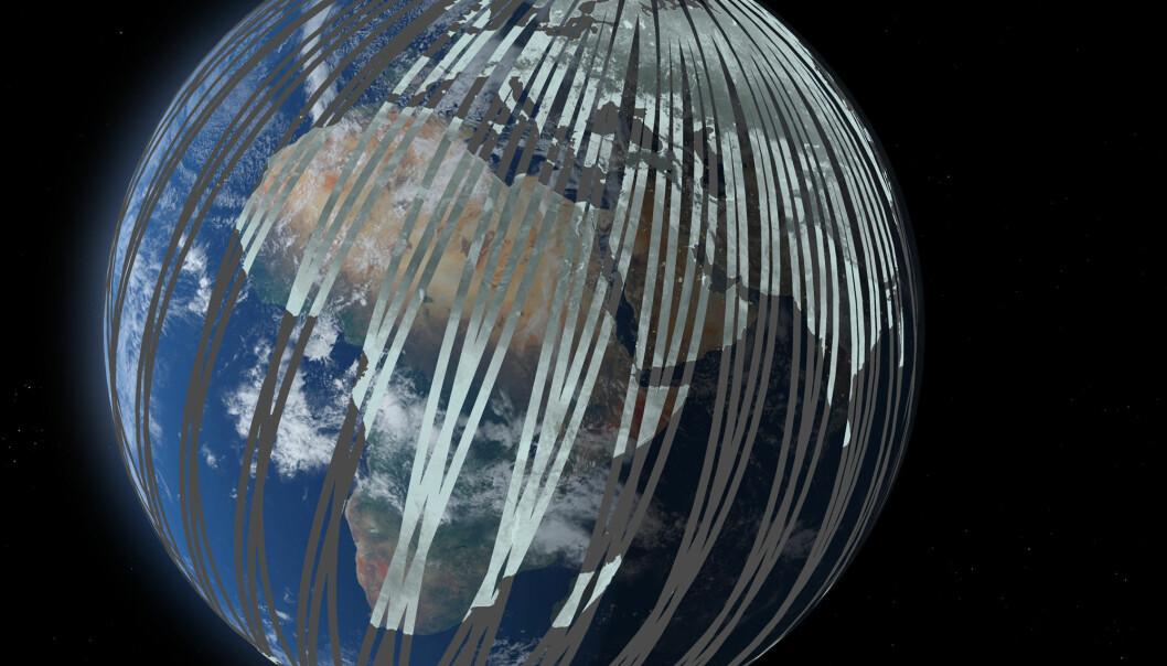 Miljøsatellitt blir radarpar i rommet
