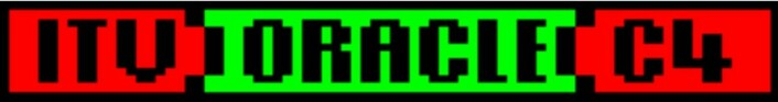 Logo for den private fjernsynskanalen ITVs tekst-tv Oracle. (Foto: (Figur: The Teletext Museum))