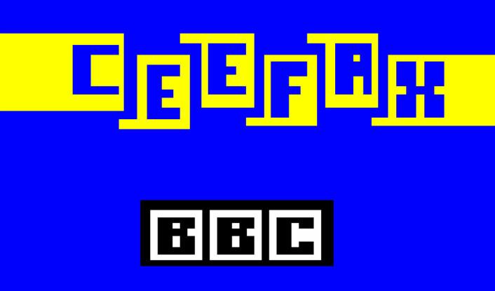 Tidlig ute: BBC startet verdens første tekst-tv, Ceefax, alt i 1974. (Foto: (Grafikk: BBC/Wikimedia Commons))