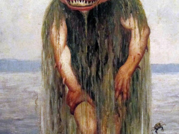"Draugen, the ghost of a sailor lost at sea, is one of the most well-known mythical creatures from Northern Norway, but it is rarely heard of south of Trondheim. Theodor Kittelsen called his creation: ""The water troll who eats only young girls"". (Painting: Theodor Kittelsen)"