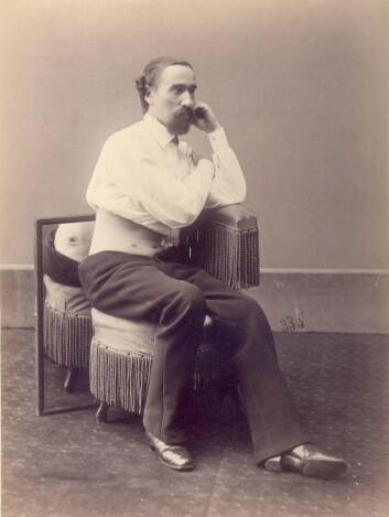 Sersjant L. Morell, skadet av skudd i 1863. (Foto: Otis Historical Archives, National Museum of Health and Medicine)