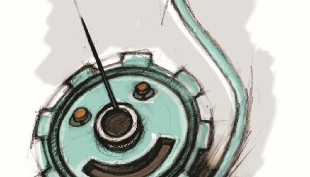 A ball bearing – or a slide bearing around an axle – needs lubricating at all times. (Illustration: Line Halsnes)