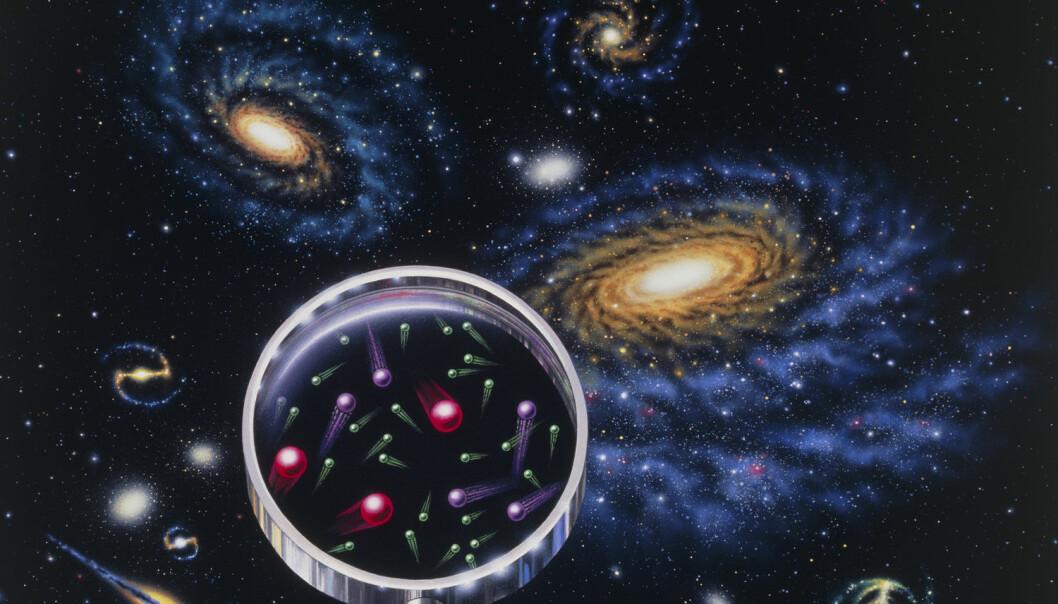De fleste mener at mørk materie er en partikkel som kan oppdages. (Illustrasjon: Science Photo Library/NTB scanpix)