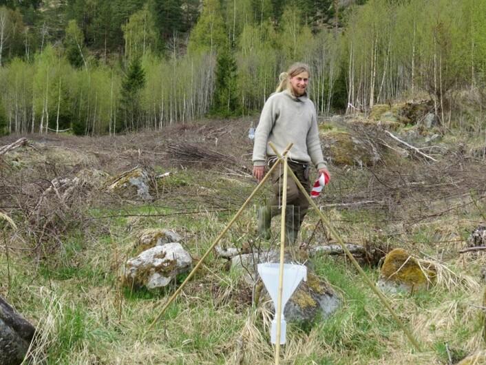 Markus Sydenham er doktorgradsstipendiat ved NMBU og forsker på bier. (Foto: Randy Gunnar Lange)