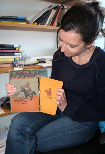 Mieke Neyens ved Universitetet i Oslo finner likheter hos to vidt forskjellige forfattere. (Foto: Ida Kvittingen, forskning.no)