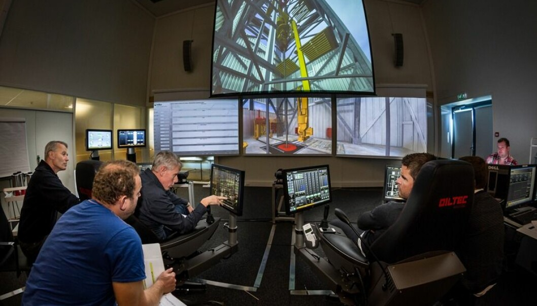 The Forus simulator is regarded as one of the world's most advanced training fields for offshore drilling. (Photo: Thor Nielsen/SINTEF).