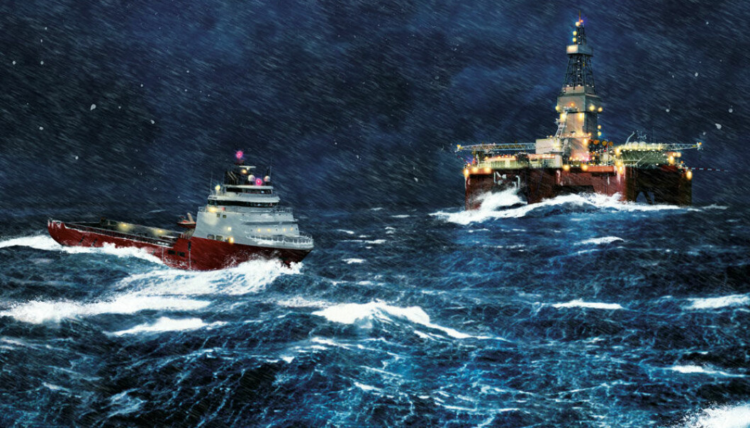 Freezing temperatures, icing, snow and an unpredictable climate have a bigger impact on a platform in the Barents Sea than in the North Sea. (Illustration: Ole Andre Hauge)