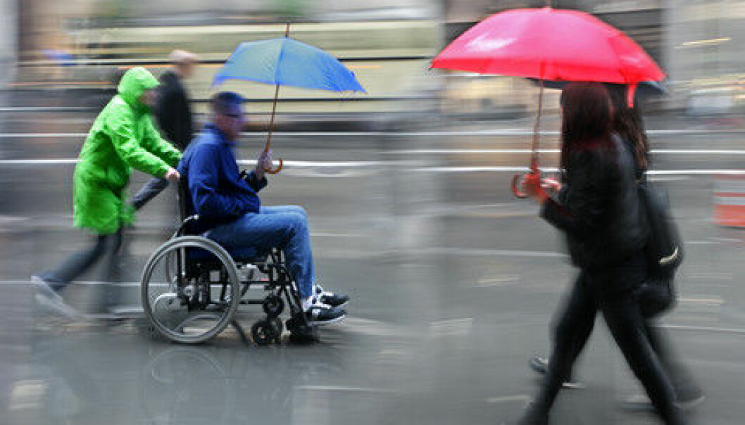 People with disabilities are more dependent than others on their helpers. This is why it is even more serious for LGBT people in this group when health care workers have prejudices and lack knowledge about alternative sexualities, according to researcher Arne Backer Grønningsæter. (Illustration: Colourbox)
